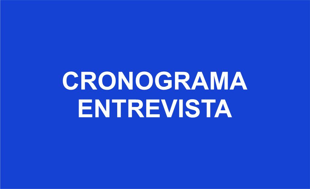 CRONOGRAMA ENTREVISTA